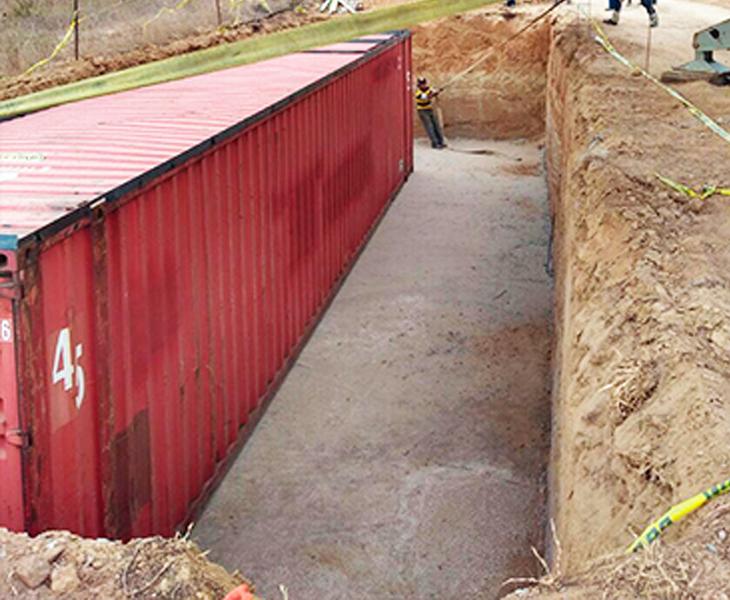 bunker con contenedores