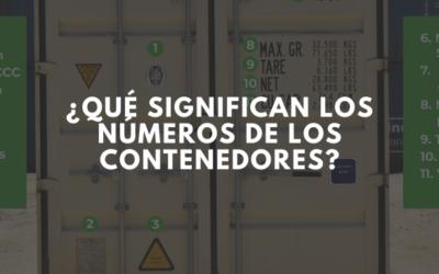 Descubre el significado de los números que tienen los contenedores.