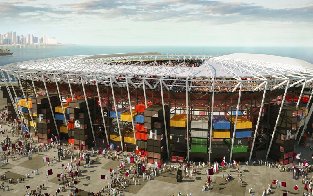 Qatar 2022 y su estadio de contenedores marítimos