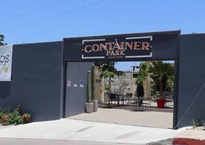 Negocios con contenedores, container park